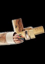 """Олівці кольорові """"MARCO"""" Natural з лінійкою, гумкою, точилкою (12 кольорів+3 графітних) 6810-15CY"""