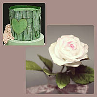 """Мастер-класс """"Вафельные украшения:цветы,текстуры и аппликация из съедобной бумаги"""" 17г."""