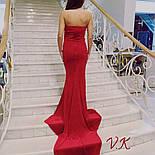 Женское нарядное бархатное вечернее платье со шлейфом (2 цвета), фото 5