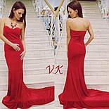 Женское нарядное бархатное вечернее платье со шлейфом (2 цвета), фото 6