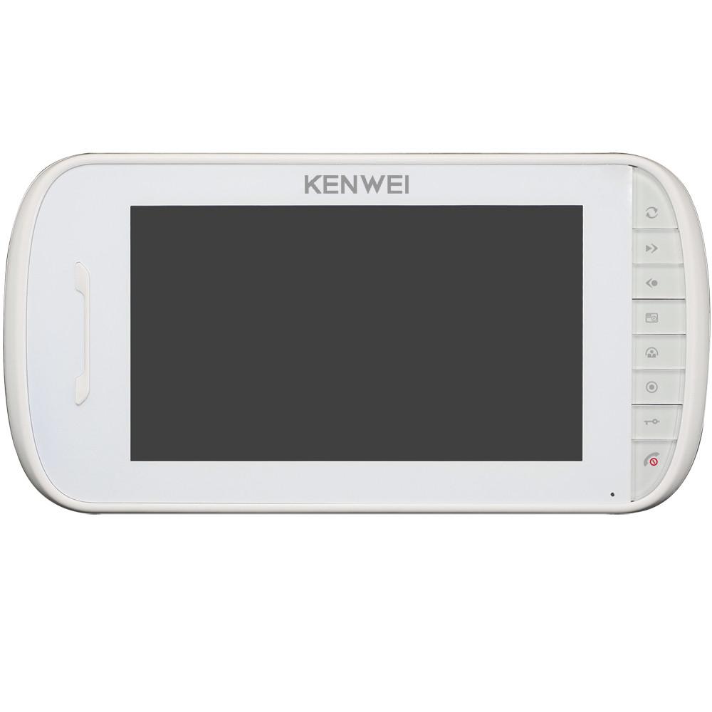 Монитор цветного видеодомофона Kenwei E703FC-M200 W/B