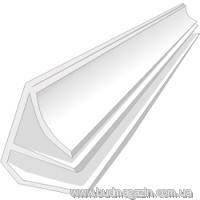 Профиль плинтус универсальный для пластиковой вагонки 6 м Белый