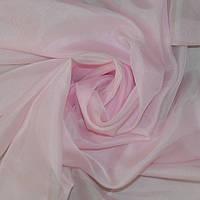 Однотонная тюль вуаль нежно-розовая