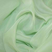 Тюль вуаль однотон. палево-зеленый