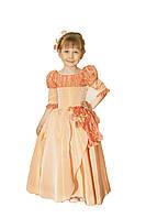 Платье детское праздничное нарядное новогоднее Бегония желтое