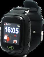 """Умные детские часы Q90 """"Black"""" с GPS трекером(+Гарантия)"""
