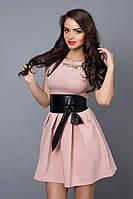 Молодежное платье в стиле беби-долл розового цвета