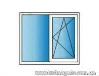 Металлопластиковые окна REHAU Euro 60 1300х1400 Двухкамерное