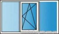 Металлопластиковые окна REHAU Euro 60 2000х1400 Двухкамерное