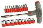 Отвертка с Т-образной прорезиненной ручкой Technics (47-380) 20 насадок (шт.)
