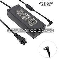 Блок питания для ноутбука Acer Aspire 1613, 1620 20V 6A 120W 5.5x2.5 (A)