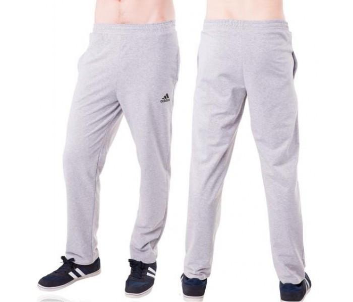 Спортивные штаны больших размеров в стиле Адидас (Adidas) мужские трикотажные светло серые баталы Украина