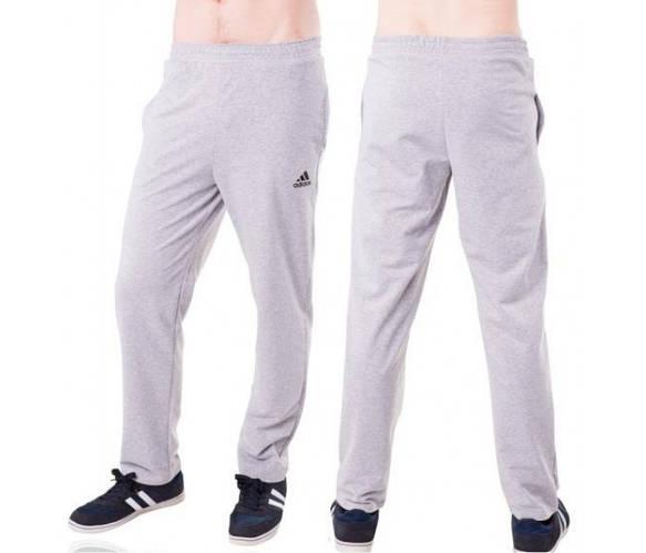 Спортивные штаны больших размеров Адидас (Adidas) мужские трикотажные светло серые баталы Украина