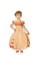 Платье детское праздничное нарядное новогоднее бальное Гладиолус желтое 116-122