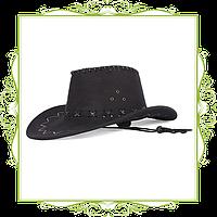 Шляпа ковбоя замша Черный