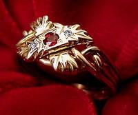 Мужское кольцо c Рубином и Бриллиантами от WickerRing