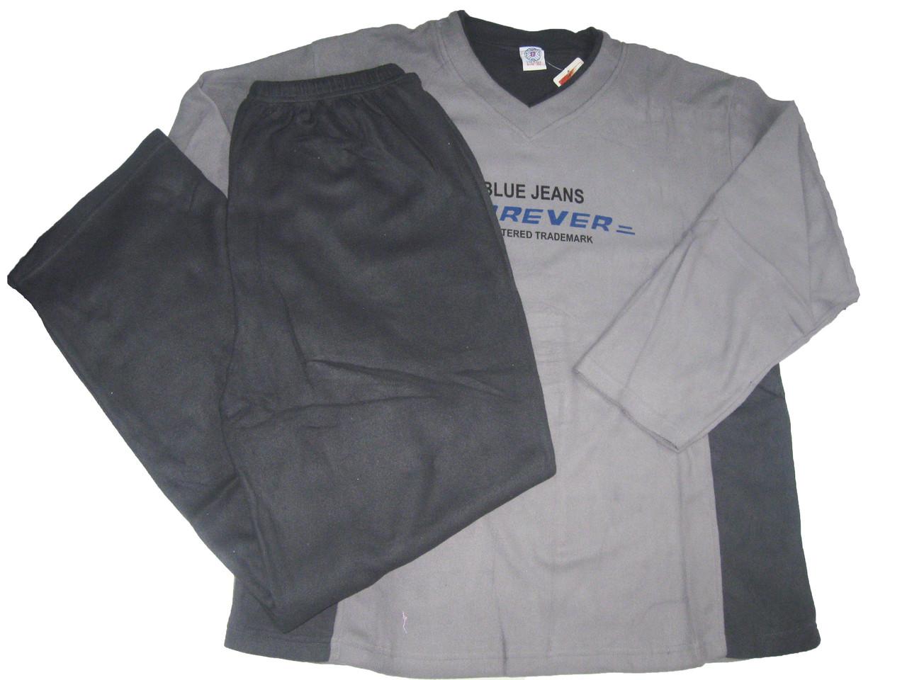 Пижама мужская флисовая, размер 2XL, арт. 1/917