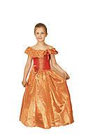 Платье детское праздничное нарядное новогоднее бальное Фиалка оранжевое