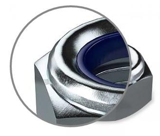 гайка самоконтрящаяся М14 с нейлоновым кольцом