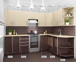 Кухня «ДСП в алюминиевой рамке», производства фабрики «Киевский стандарт»