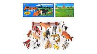 Набор фигурок домашних животных с аксессуарами. Домашние животные H 638, +игровое поле, +забор