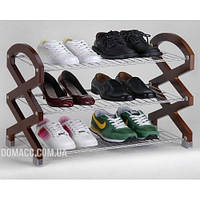 Полиця для взуття хром/мдф