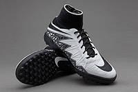 Детские сороконожки Nike HypervenomX Proximo TF Junior White Black
