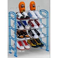 Полиця для взуття хром/пластик
