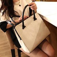Белая женская сумка для офиса