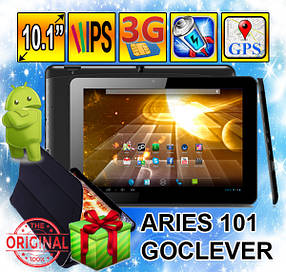 Планшет-телефон GoClever Aries 101 3G, 10,1, IPS, 1GB/8GB+Чехол в Подарок