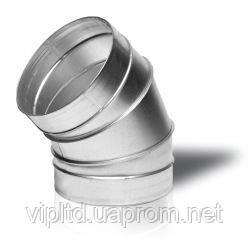 Отвод 45°оцинкованный вентиляционный круглый 45-125, Вентс, Украина