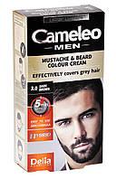 """Крем-краска для бороды, усов и бакенбардов 3.0 темно-коричневая  """"Delia"""" CAMELEO MEN (30ml)"""