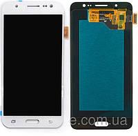 Дисплейный модуль (дисплей + сенсор) для Samsung Galaxy J5 (2016) J510, белый, оригинал