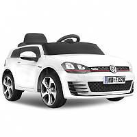 Детский электромобиль Volkswagen Golf GT 528: 2.4G, EVA, 90W, кожа - Белый- купить оптом, фото 1