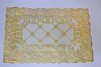 Мини-скатерть, кружевная, золото