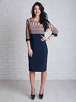 Стильное повседневное платье приталенного кроя большие размеры