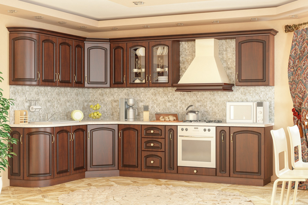 Жасмин кухня угловая Мебель-Сервис 2000х3400 мм
