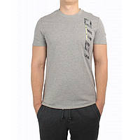 Футболка мужская LOTTO DEVIN III TEE (S3187) GREY DARK MELANGE/YELLOW NEON