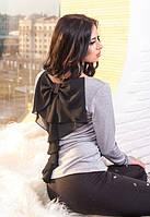 Женская кофта с шифоновым бантом на спине Favor