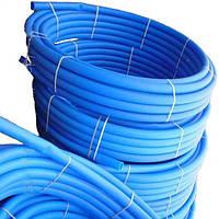 Труба полиэтиленовая голубая 25 х 2 мм 6 атм. первичка