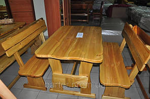 Мебель из натурального дерева для кафе, комплект деревянный 1200*800