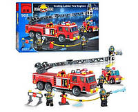 Конструктор BRICK 908 Пожарная тревога 607 деталей