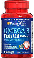 Puritans Pride Omega-3 Fish Oil 1000 mg, 100softgels