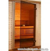 Двери для сауны Saunax Classic (бронза) 190х60 Эстония