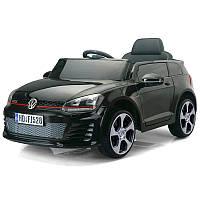 Детский электромобиль Volkswagen Golf GT 528: 2.4G, EVA, 90W, кожа - Черный-купить оптом , фото 1