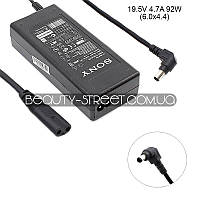 Блок питания для ноутбука Sony Vaio VPC-F21Z1R, VPC-F22E1R, VPC-F22M1R, VPC-F22S1R 19.5V 4.7A 92W 6.0x4.4 (B)