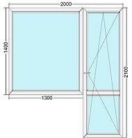 Балконный блок Veka (Века) 60мм, однокамерный стеклопакет, трёхкамерный профиль