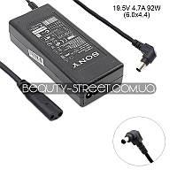 Блок питания для ноутбука Sony Vaio VGN-SR520G, VGN-SR525G, VGN-SR590FHB 19.5V 4.7A 92W 6.0x4.4 (B)