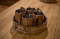 Набор пивных кружек с металлической вставкой 4 шт. по 0,5 л каждая