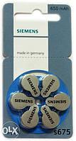 Батарейки Siemens 675, 6 шт./уп.